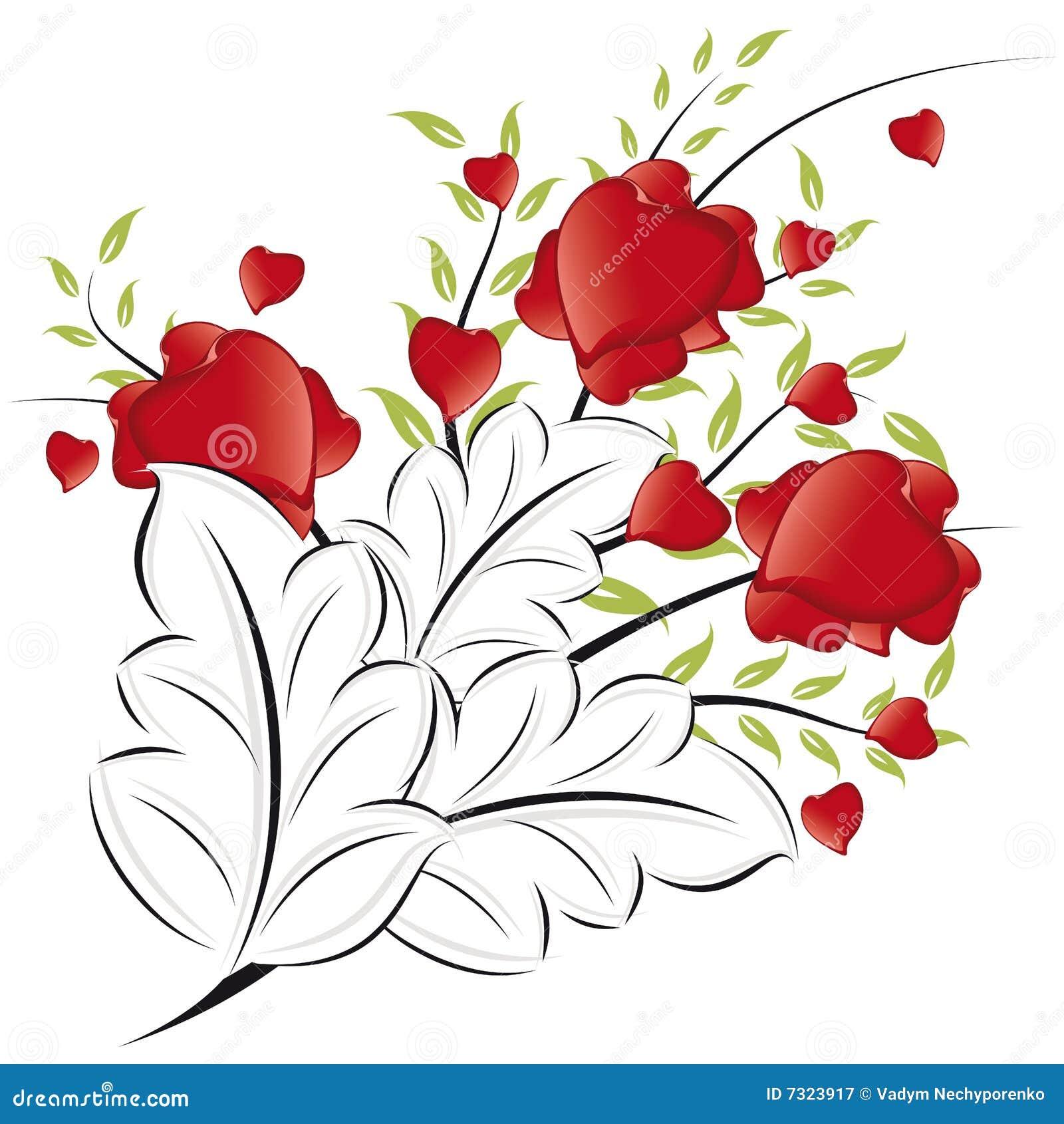 Cuori di giorno del biglietto di S. Valentino astratto