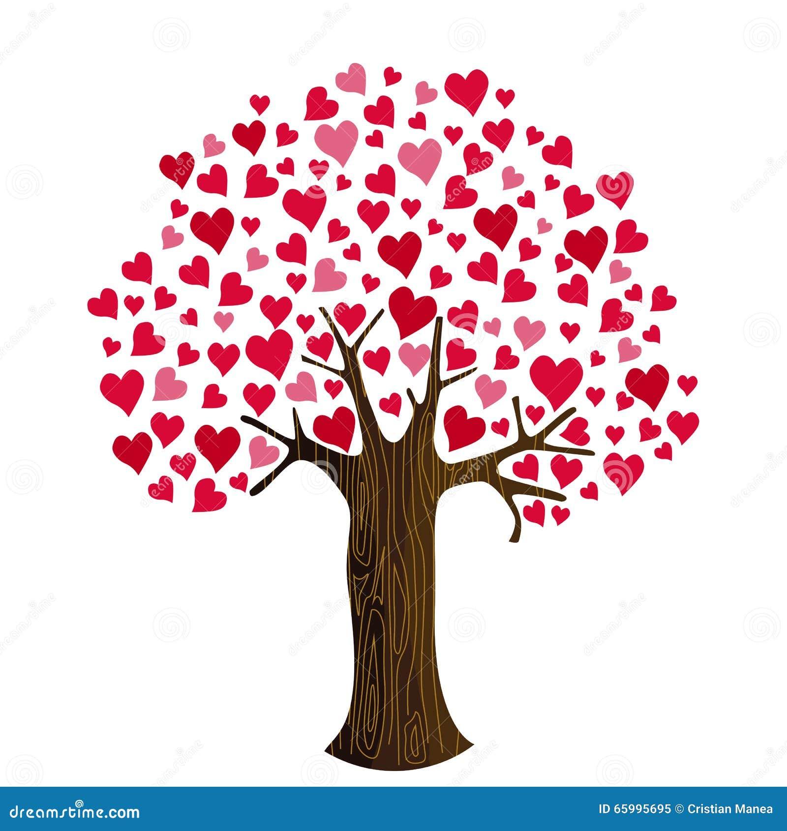Cuori di san valentino su clipart dell 39 albero - Animale san valentino clipart ...