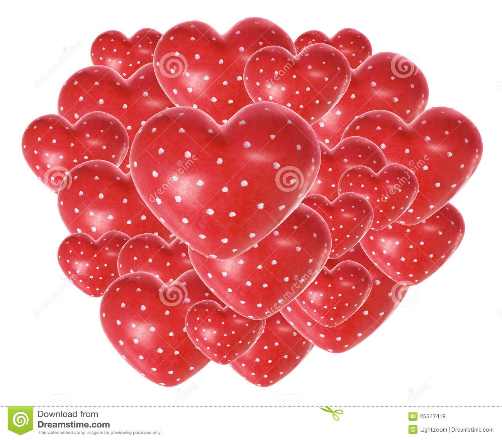 Cuori rossi di amore fotografie stock libere da diritti for Immagini di cuori rossi