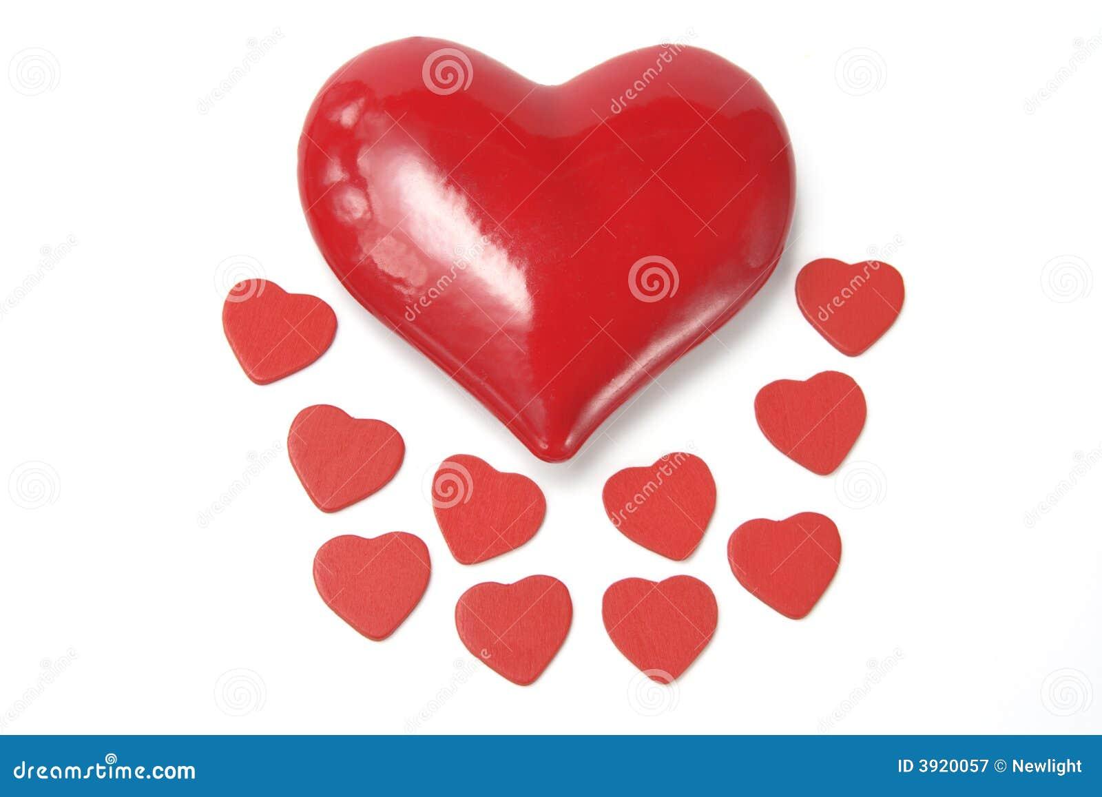 Cuori rossi di amore immagine stock immagine di taglio for Immagini di cuori rossi