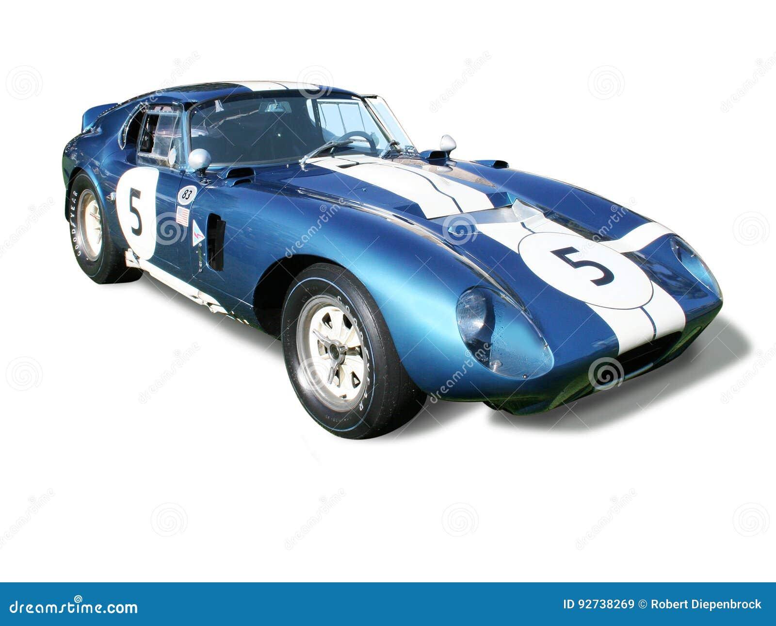 Cupê de Shelby Cobra Daytona isolado