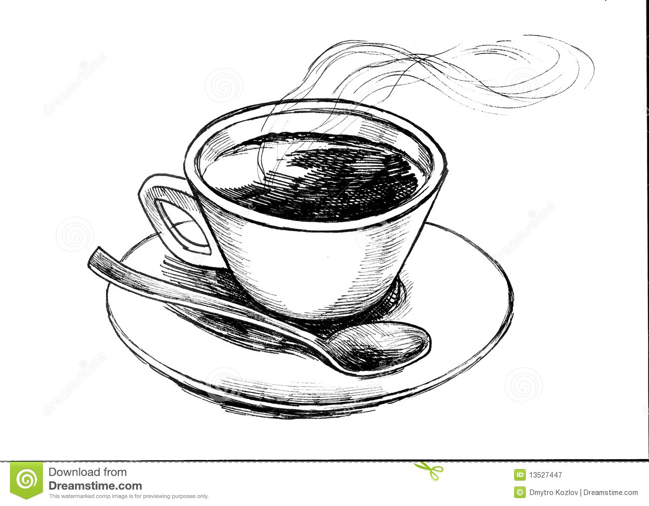 Coffee cup sketch - Royalty Free Stock Photo