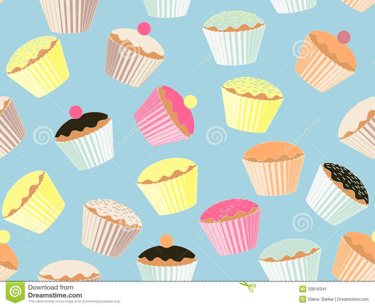Cup Cake Background Stock Vector Illustration Of Cake