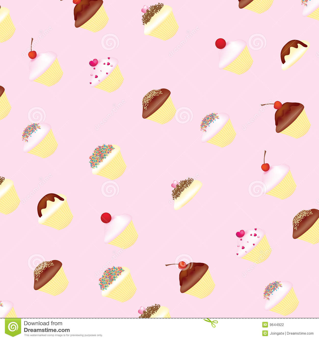 Cup cakes and fairy cake wallpaper background.