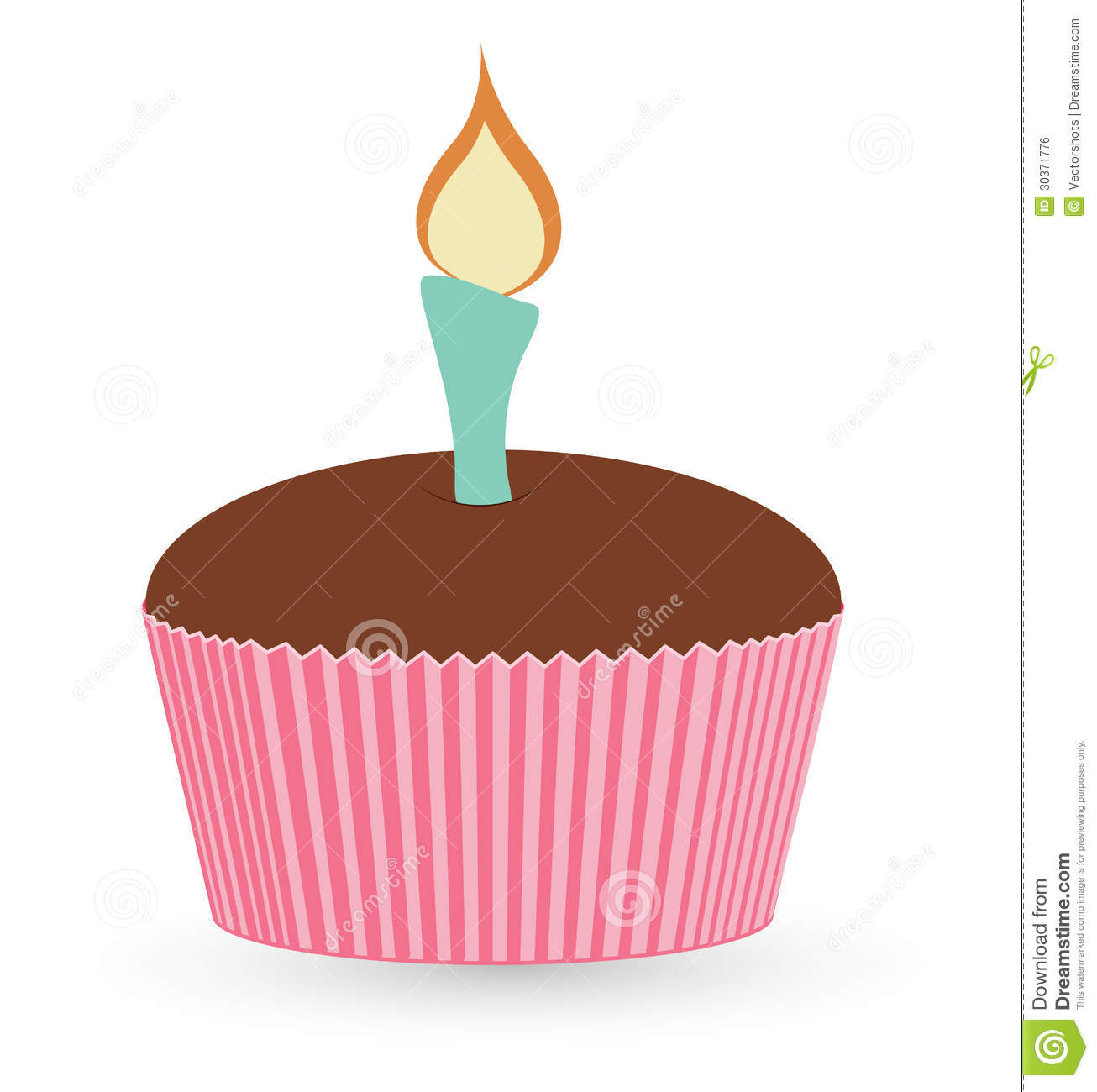 Cup Cake Christmas Vector Illustration Stock
