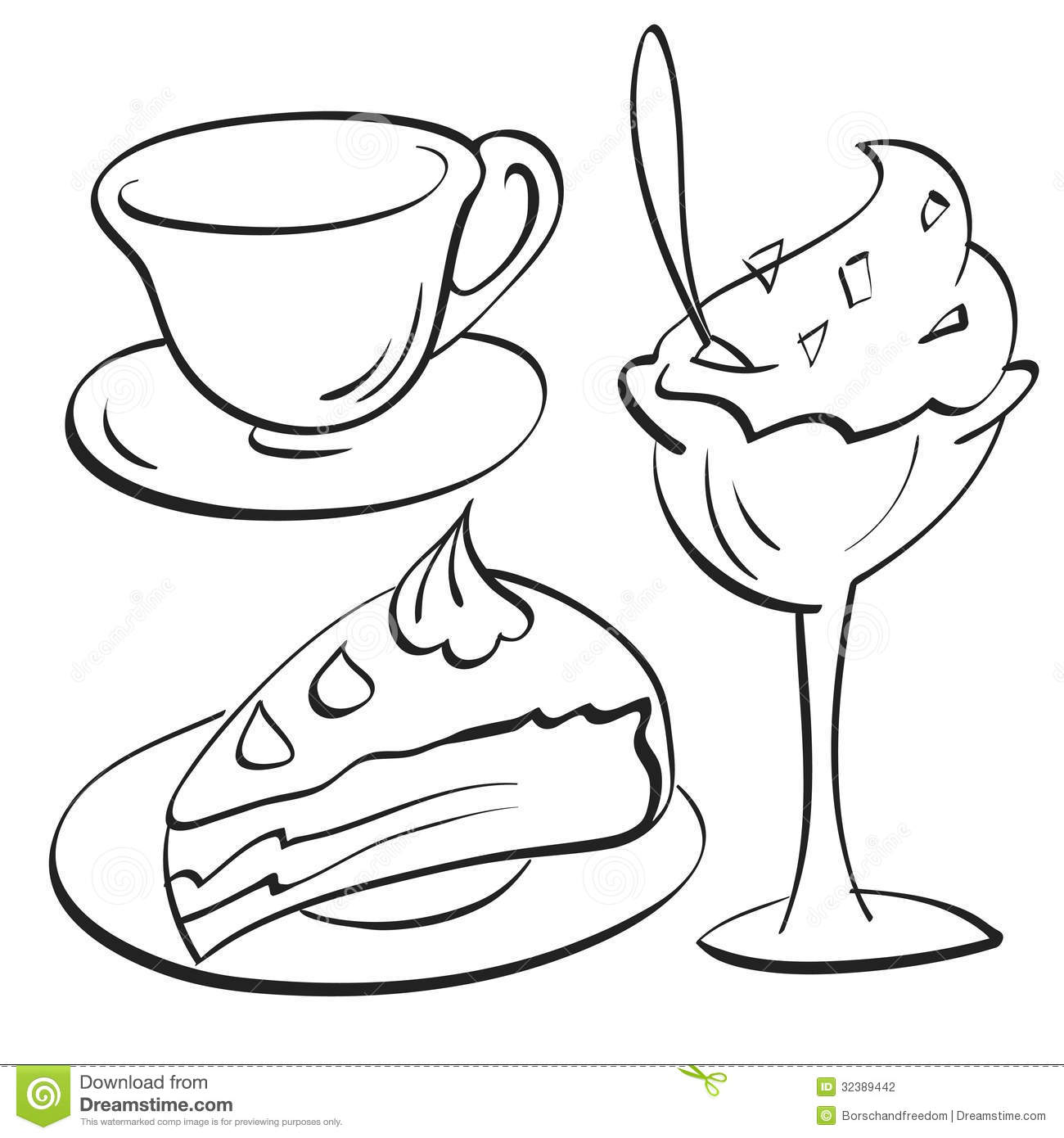 Cup Cake Sundae Stock Vector Image Of Illustrations