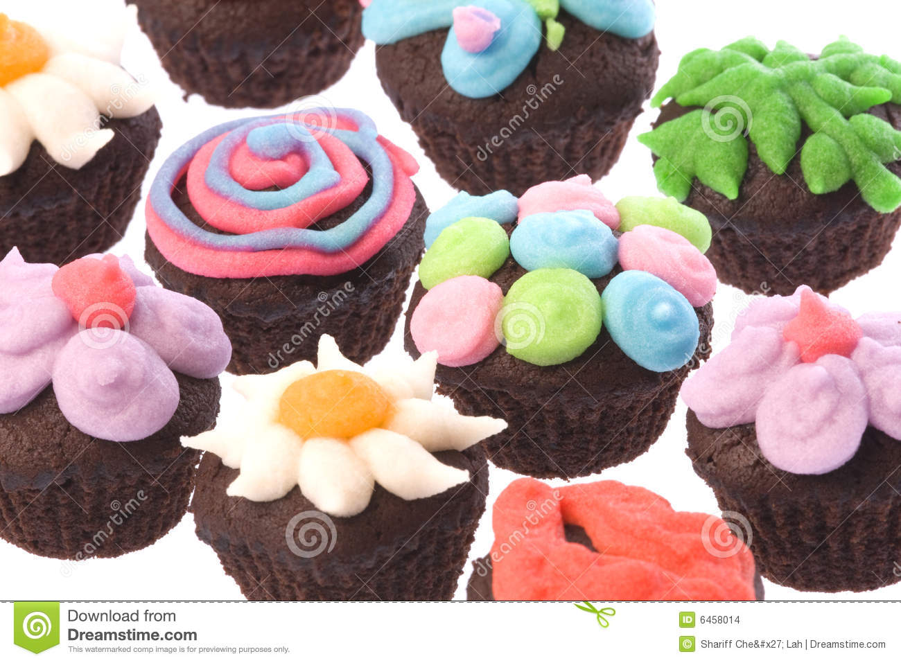 Cup Cakes Isolated