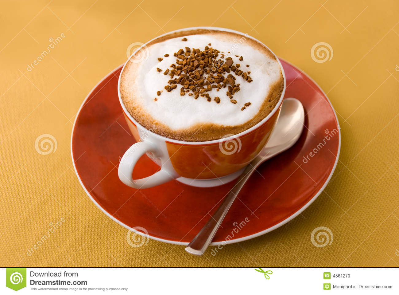 A Cup Of Cappuccino With Decoration Stock Photo - Image of ...