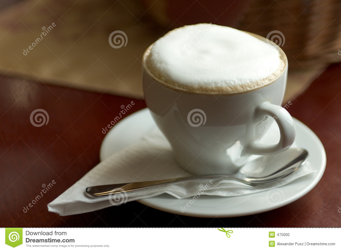 Download Cup of Cappucino stock photo. Image of drink, drinks, table - 475000