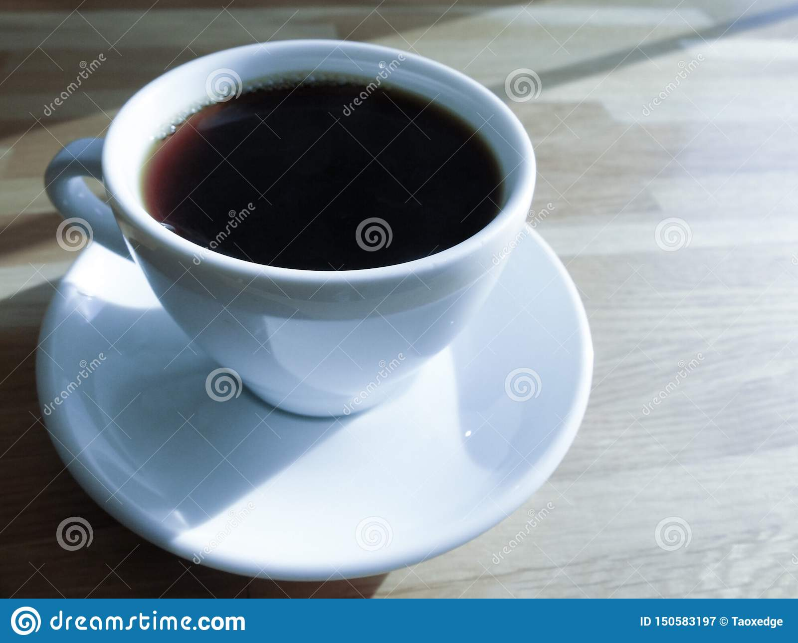 A cup of coffee,black coffee in the morning