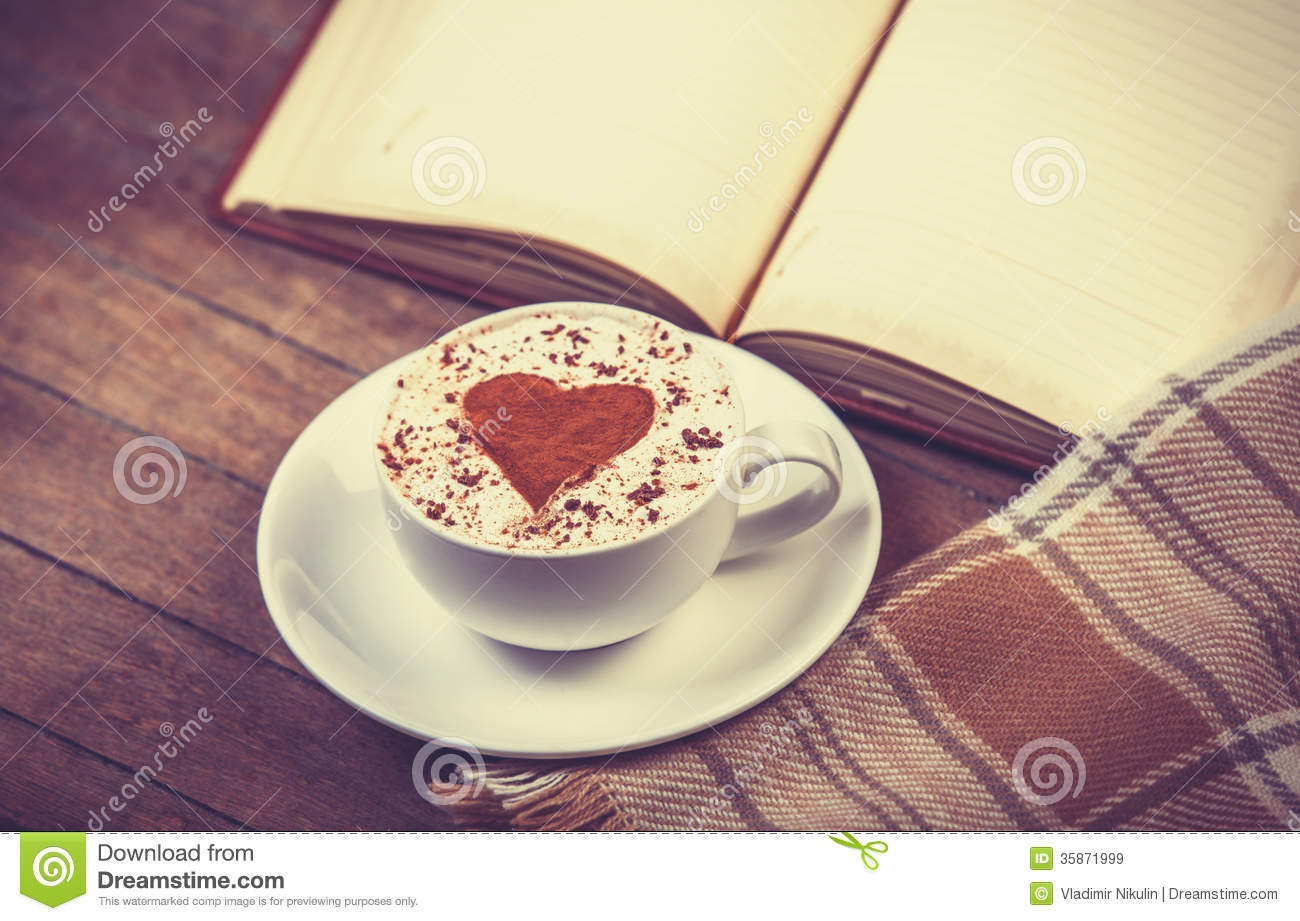 Cup Of Coffee And Book Royalty Free Stock Images Image
