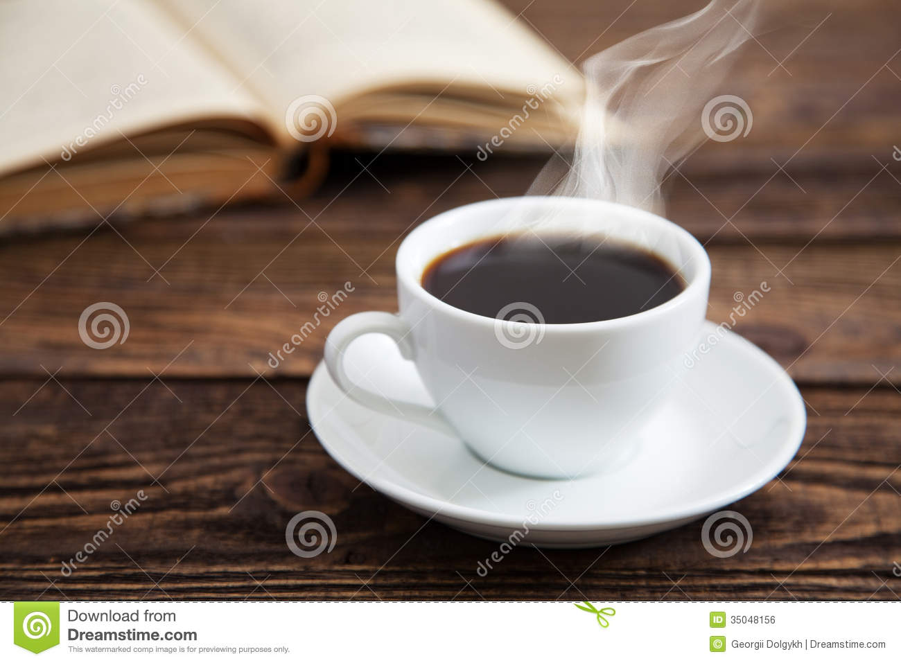 Cup Of Coffee And A Book Royalty Free Stock Image - Image: 35048156