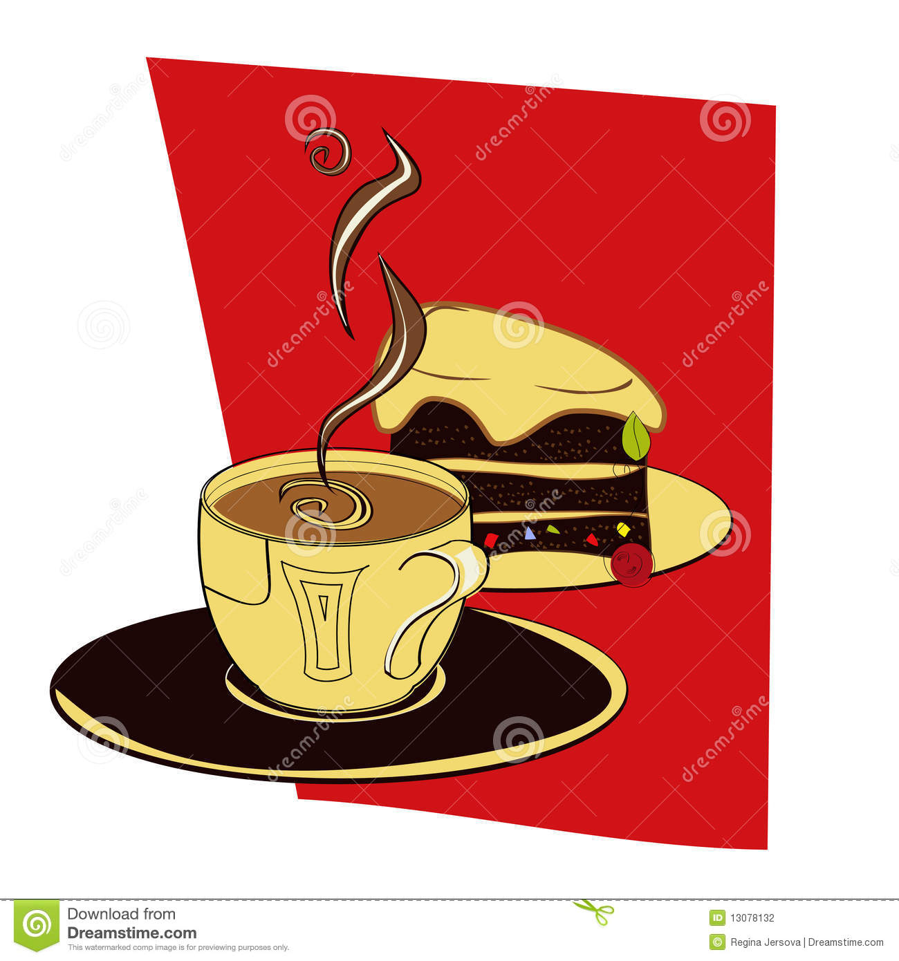 clipart coffee and cake - photo #14