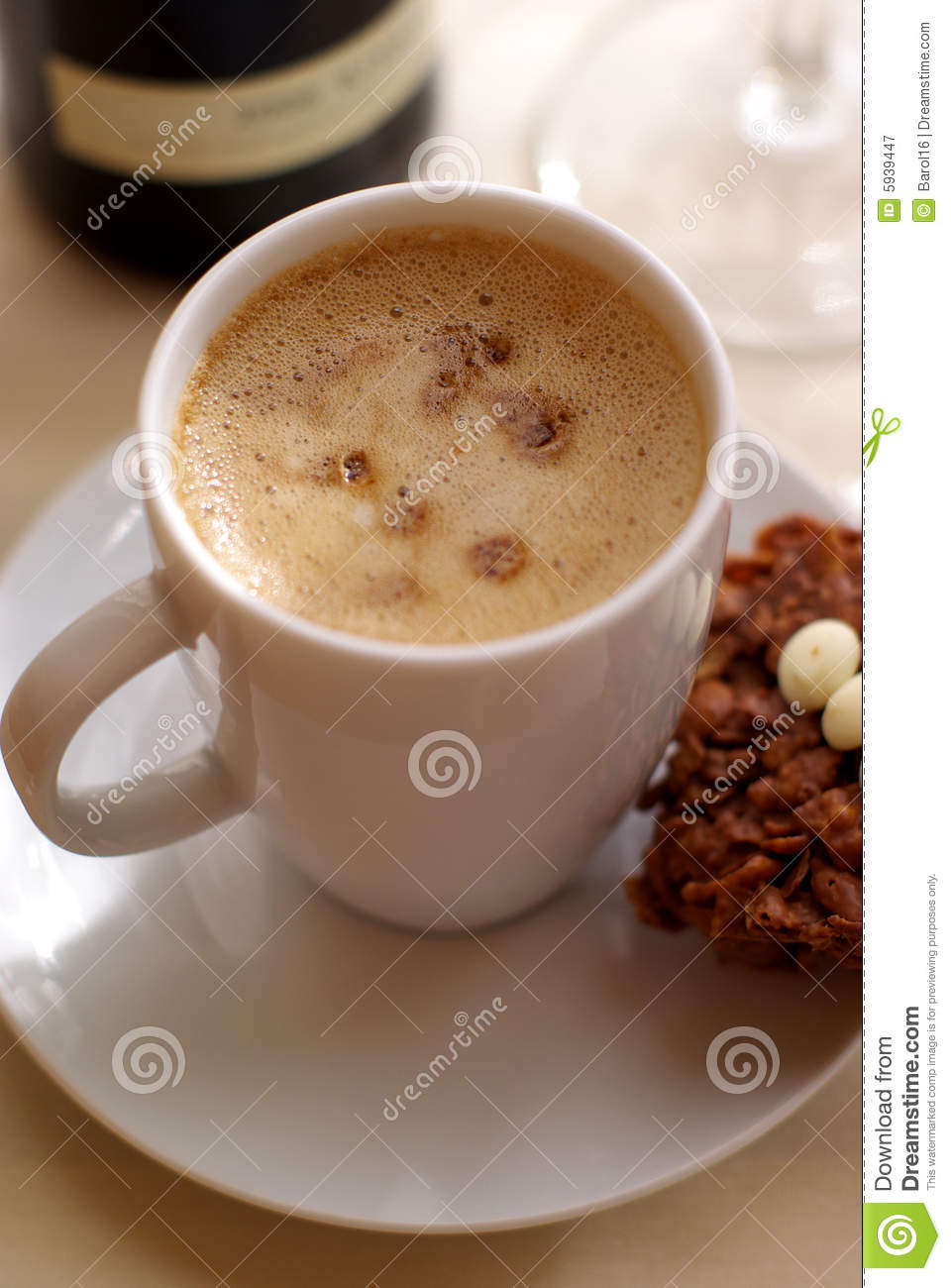 Download Cup of Coffee and cakes stock image. Image of coffeehouse - 5939447