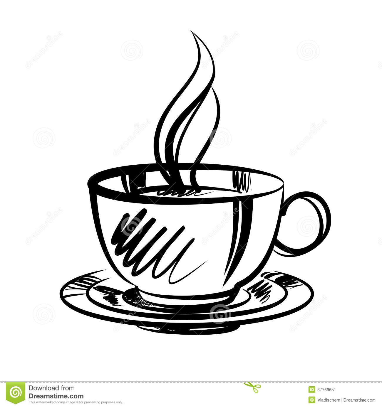 cup of coffee cartoon vector illustration stock vector