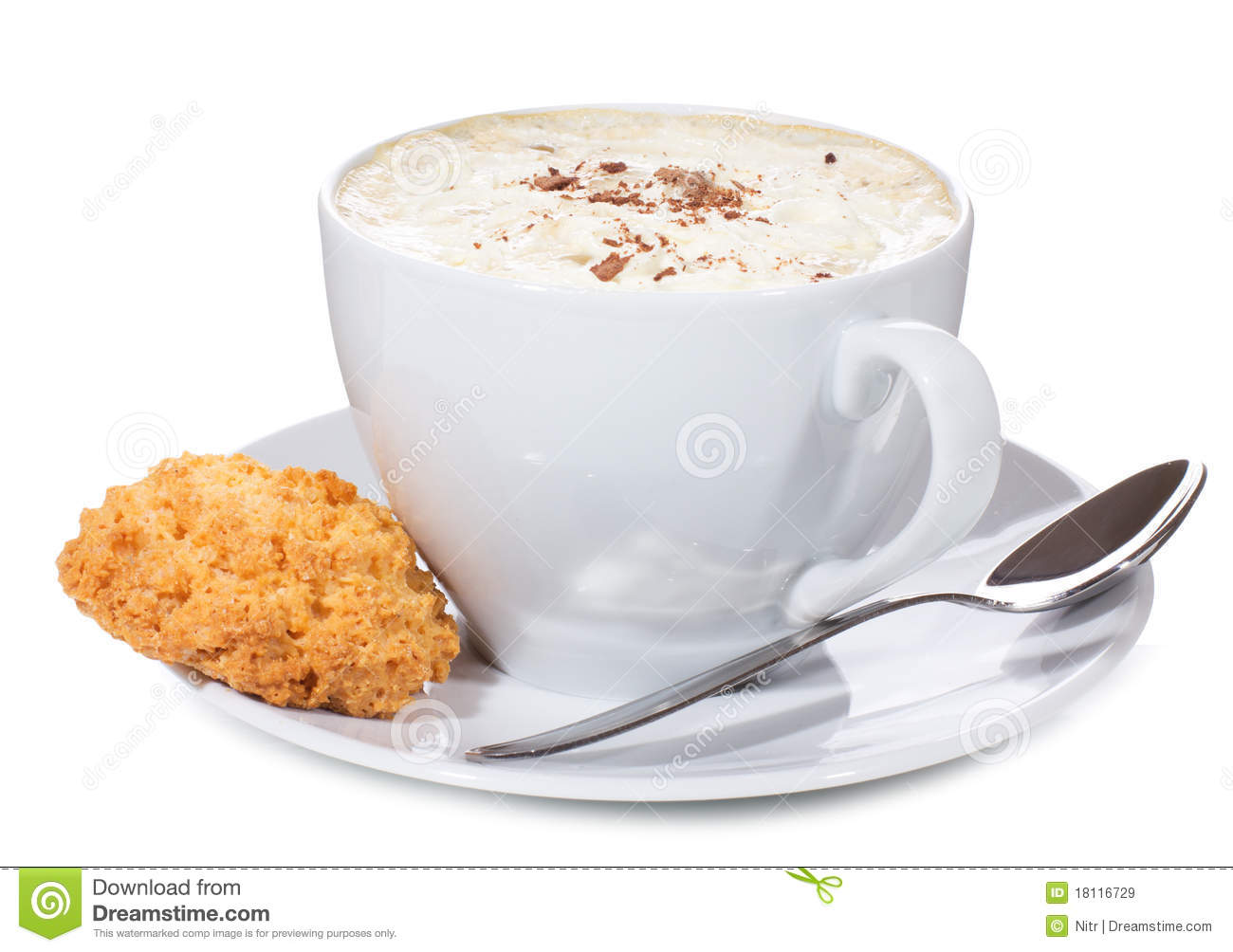 Cookie Coffee Cups Coffee Cup With Cookie Stock Photo Image 24477980