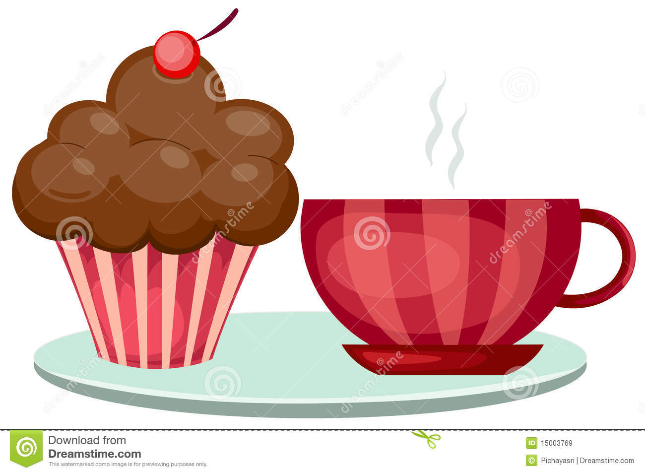 Free Clipart Tea And Cake : Cup Of Coffee And Cute Cup Cake Royalty Free Stock Images ...