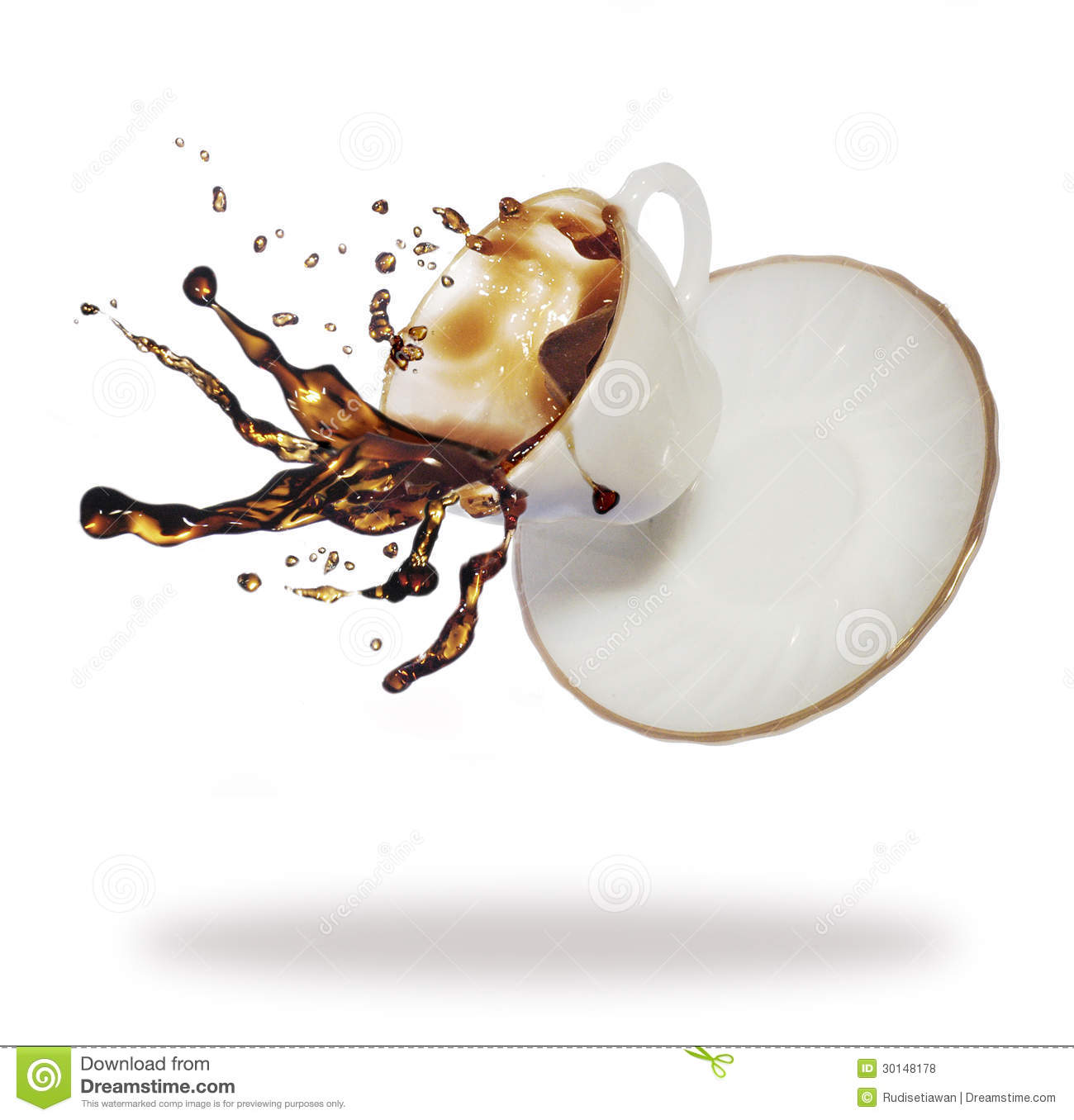 Coffee Splash Royalty Free Stock Photos Image 30148178