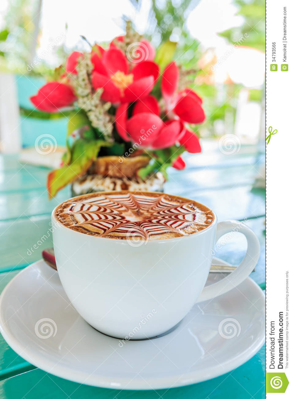 Cup Of Coffee With Flower Royalty Free Stock Image - Image ...
