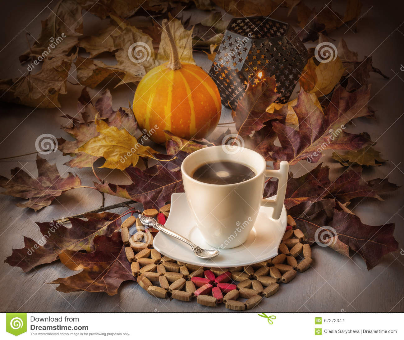 Cup Of Coffee On Halloween Stock Photo - Image: 67272347