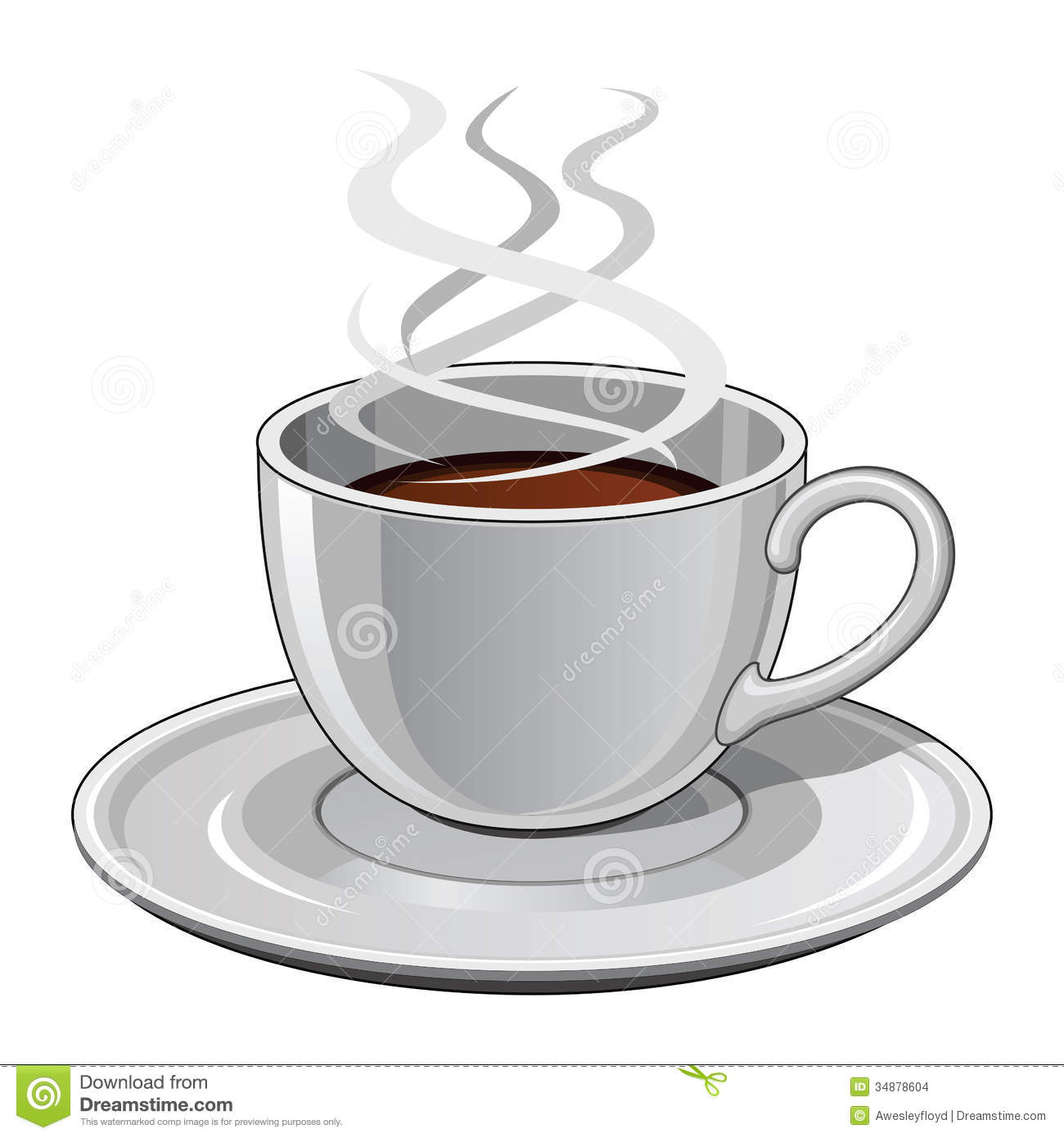 Cup of Coffee stock vector. Illustration of coffee, steam ...