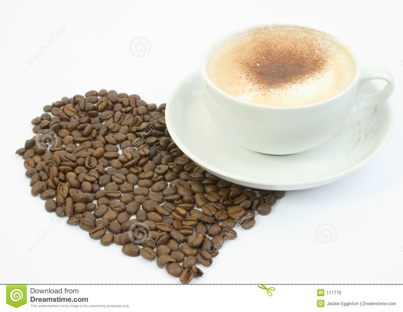 Cup of coffee with large heart