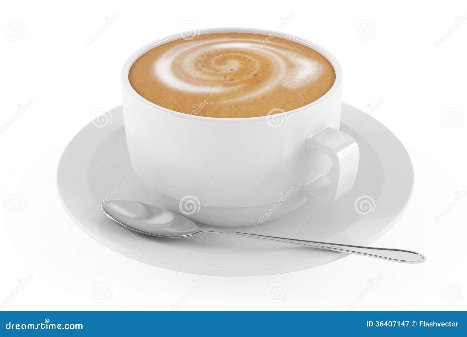 hot coffee white background - photo #18