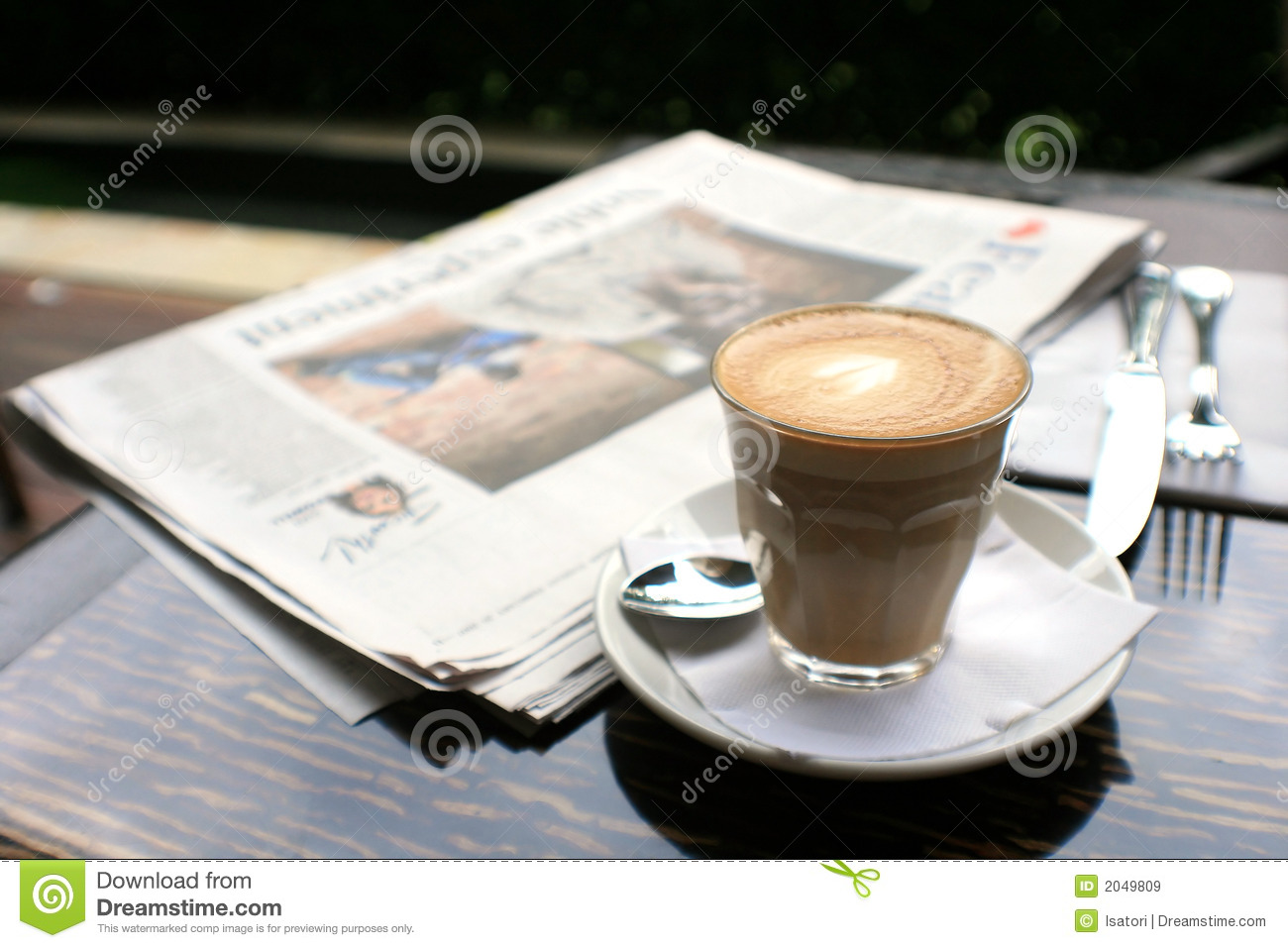 Cup Of Coffee With News Paper On Table Royalty Free Stock  : cup coffee news paper table 2049809 from www.dreamstime.com size 1300 x 957 jpeg 251kB