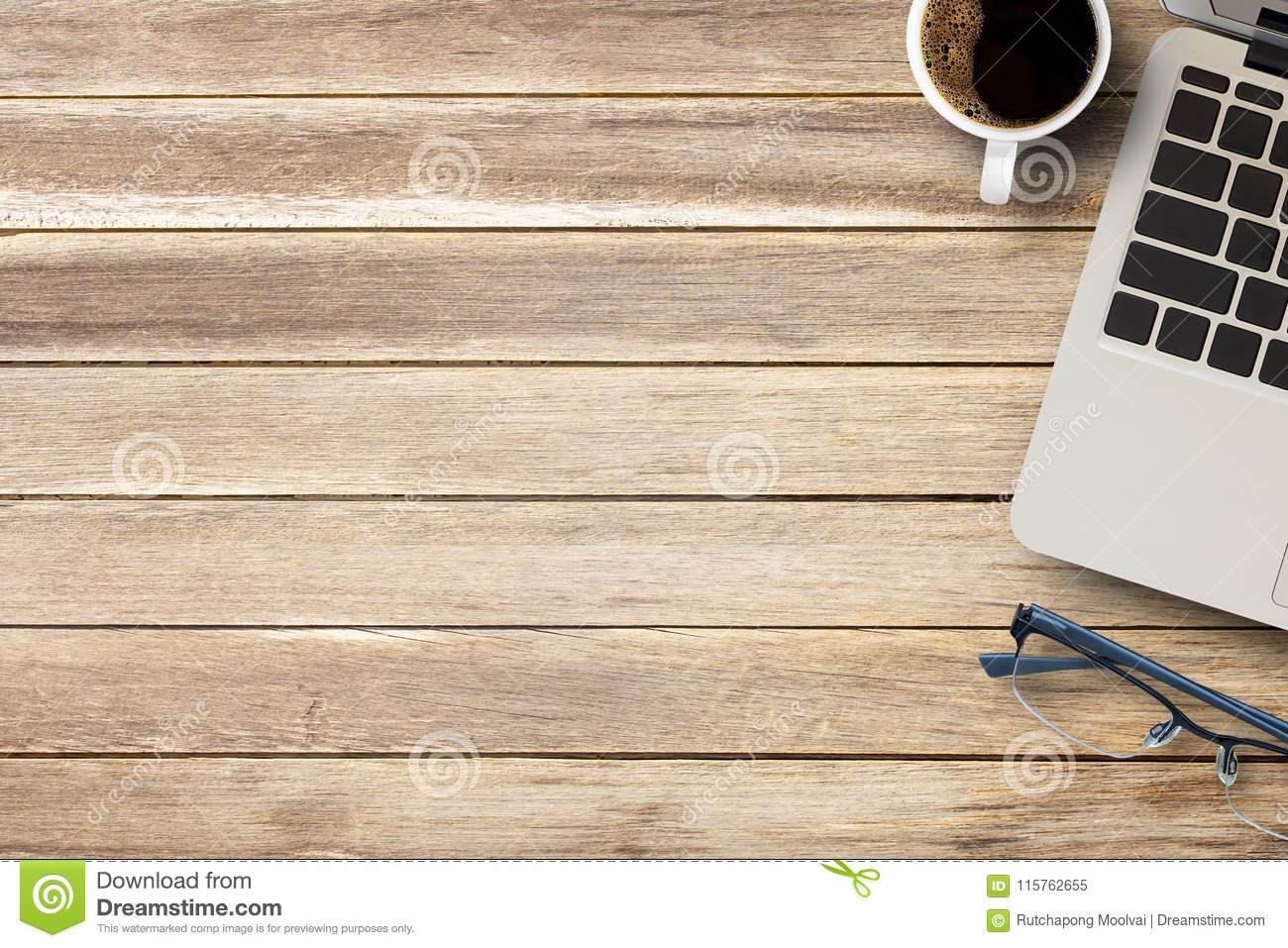 Cup Of Coffee On A Office Desk Or Wood Table Background Stock Image Image Of Element Color 115762655