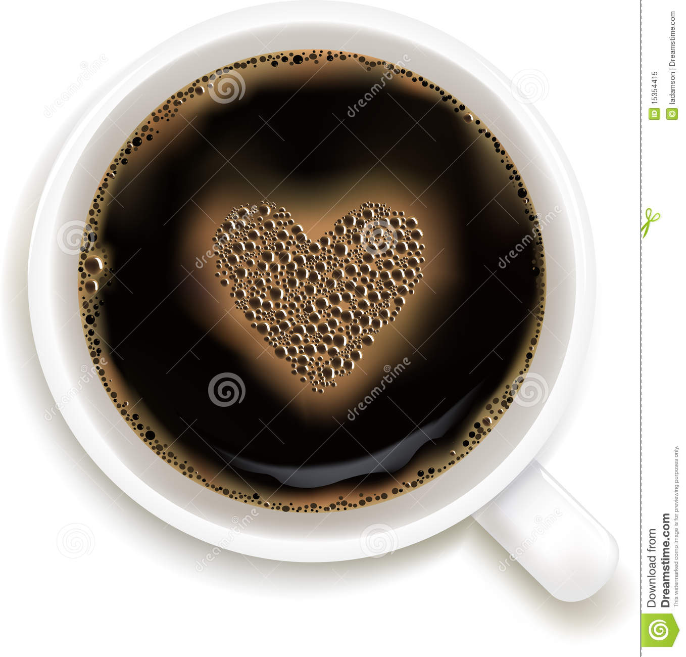 Cup Of Coffee With Prediction of Love. Vector