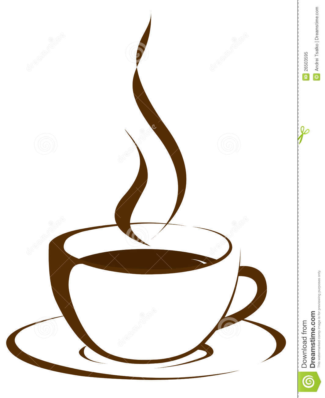 Cup Of Coffee With Steam Royalty Free Stock Photo - Image: 26503595