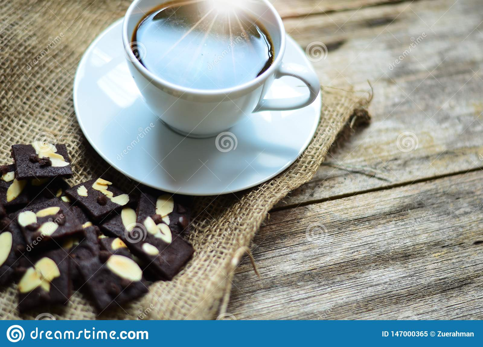 Cup Of Coffee And Tasty Cookies Tea Time And Breakfast Concept Stock Image Image Of Cookie Cafe 147000365