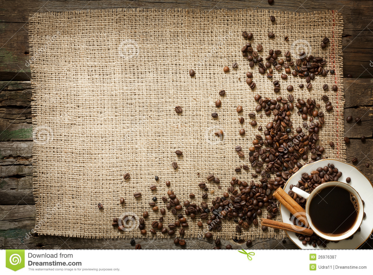 Cup Of Coffee Vintage Background Stock Image Image Of