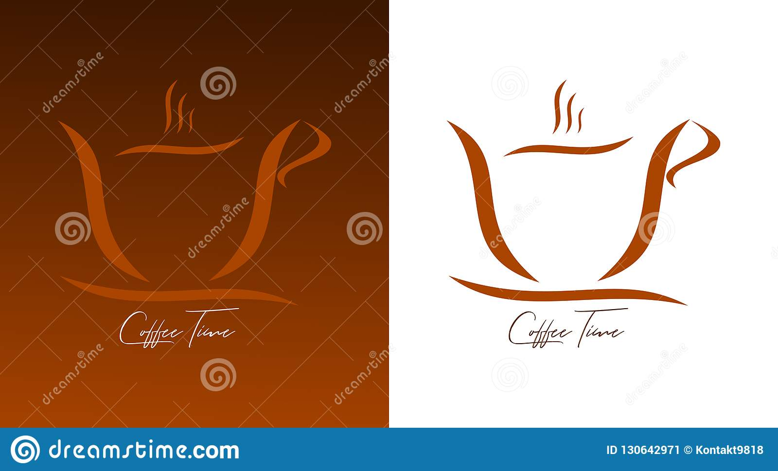 A cup of coffee - a cup of coffee on a white and brown background