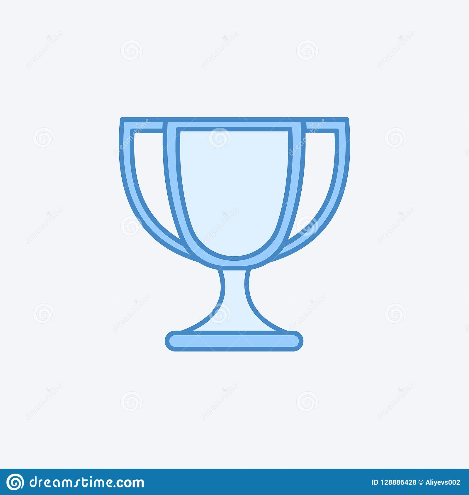 cup 2 colored line icon. Simple dark and light blue element illustration. cup concept outline symbol design from education set