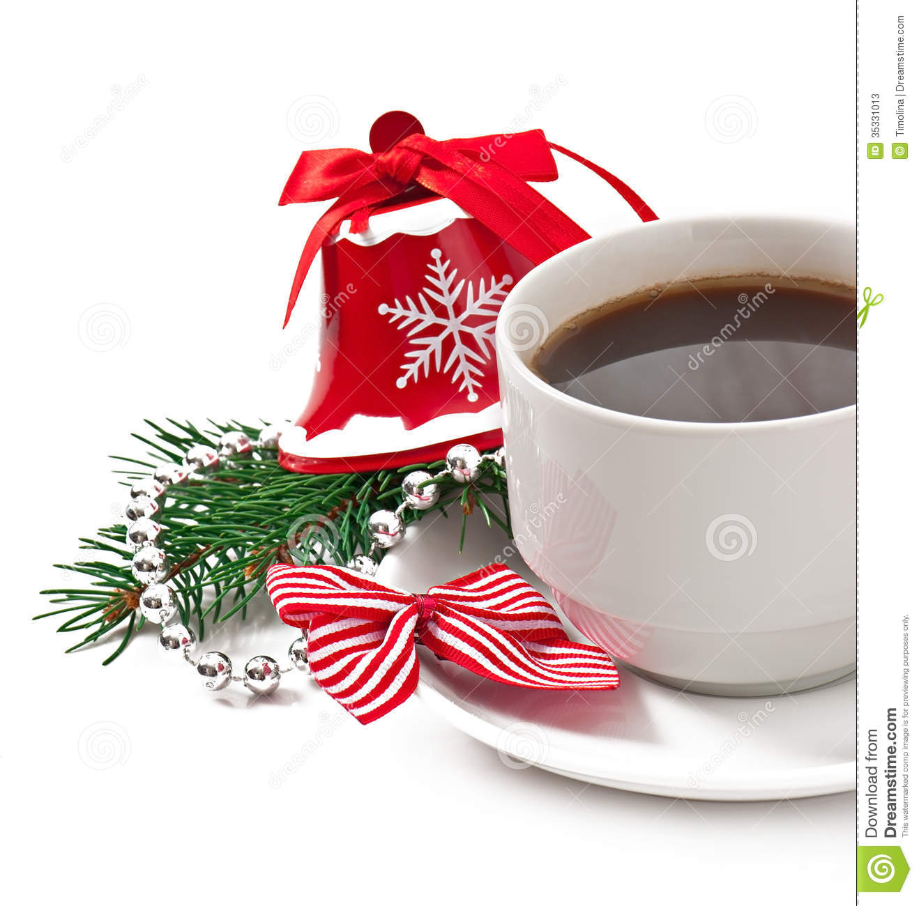 Christmas Card With Red Coffee Cup Topped With Whipped Cream And ...