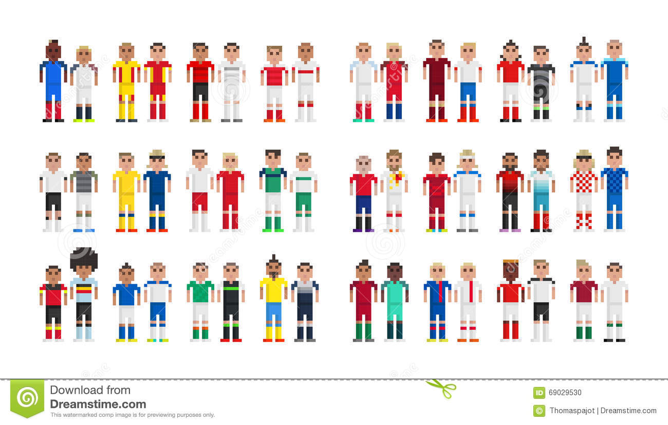 Pixel Art Football France