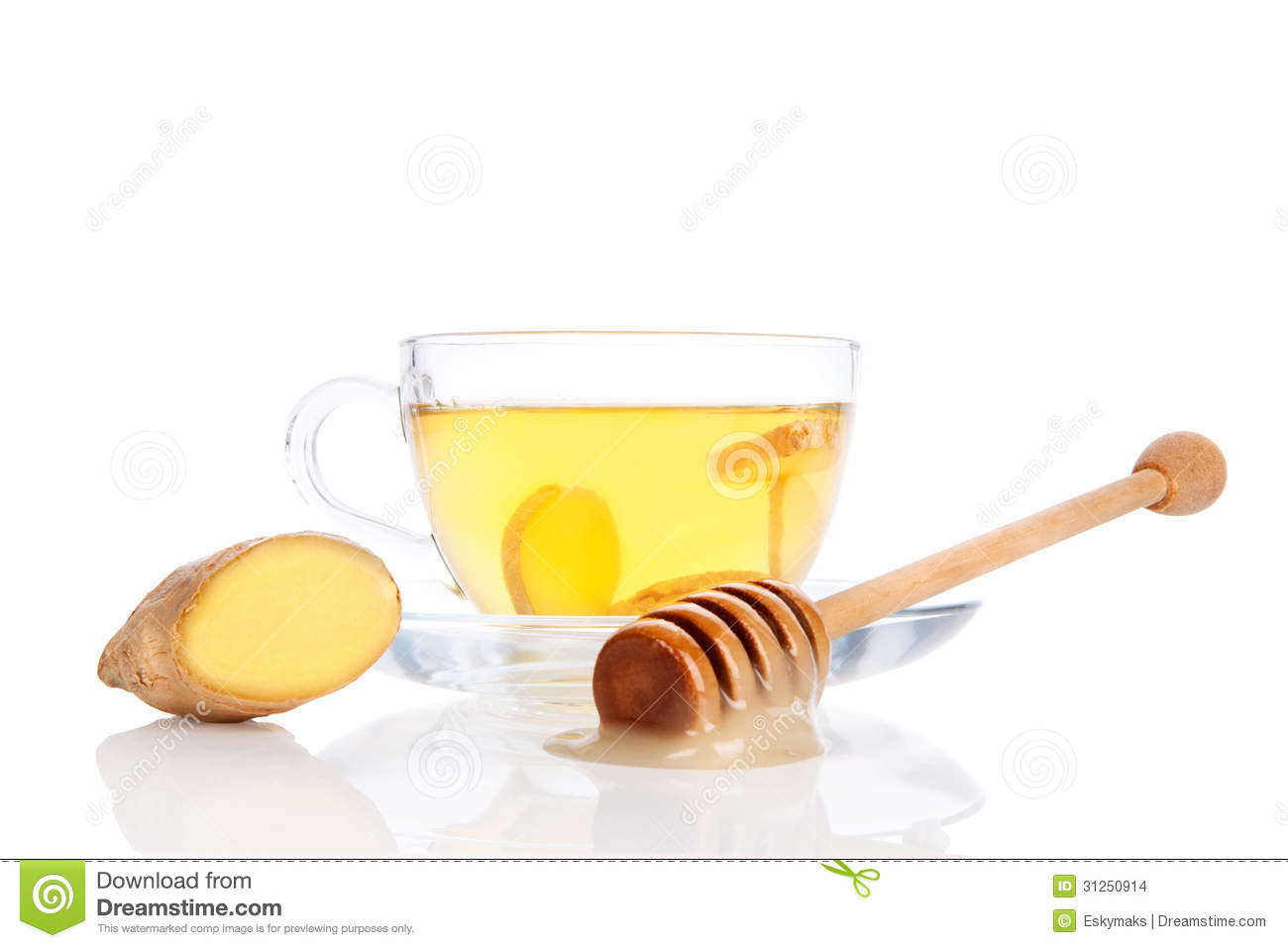 A Marble In A Cup Of Honey : Cup of ginger tea with honey stock images image