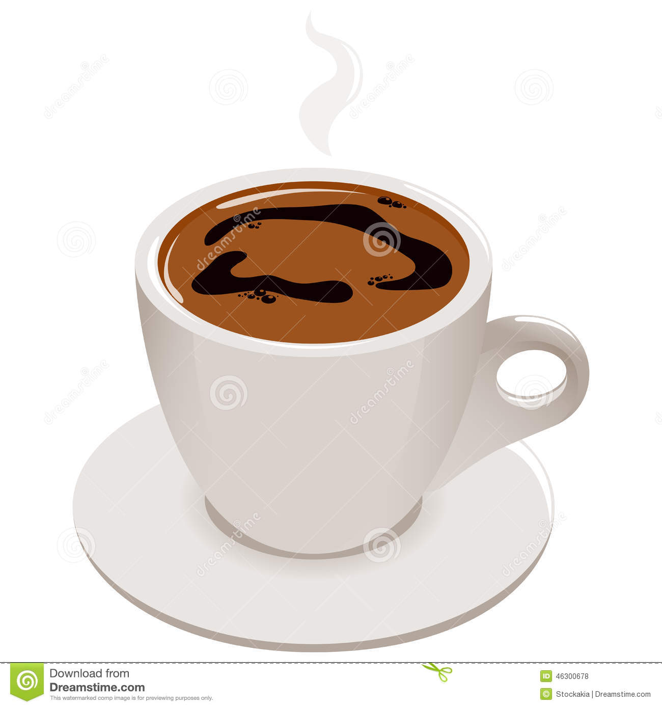 Cup Of Greek Or Turkish Coffee Stock Vector Illustration