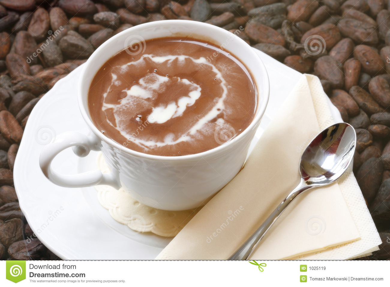 Cup Of Hot Chocolate Royalty Free Stock Images Image 1025119