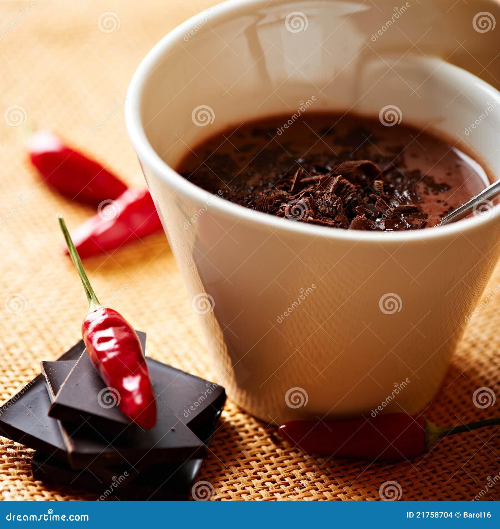 Spicy Chili Spanish Hot Chocolate Stock Photo - Image: 64094798