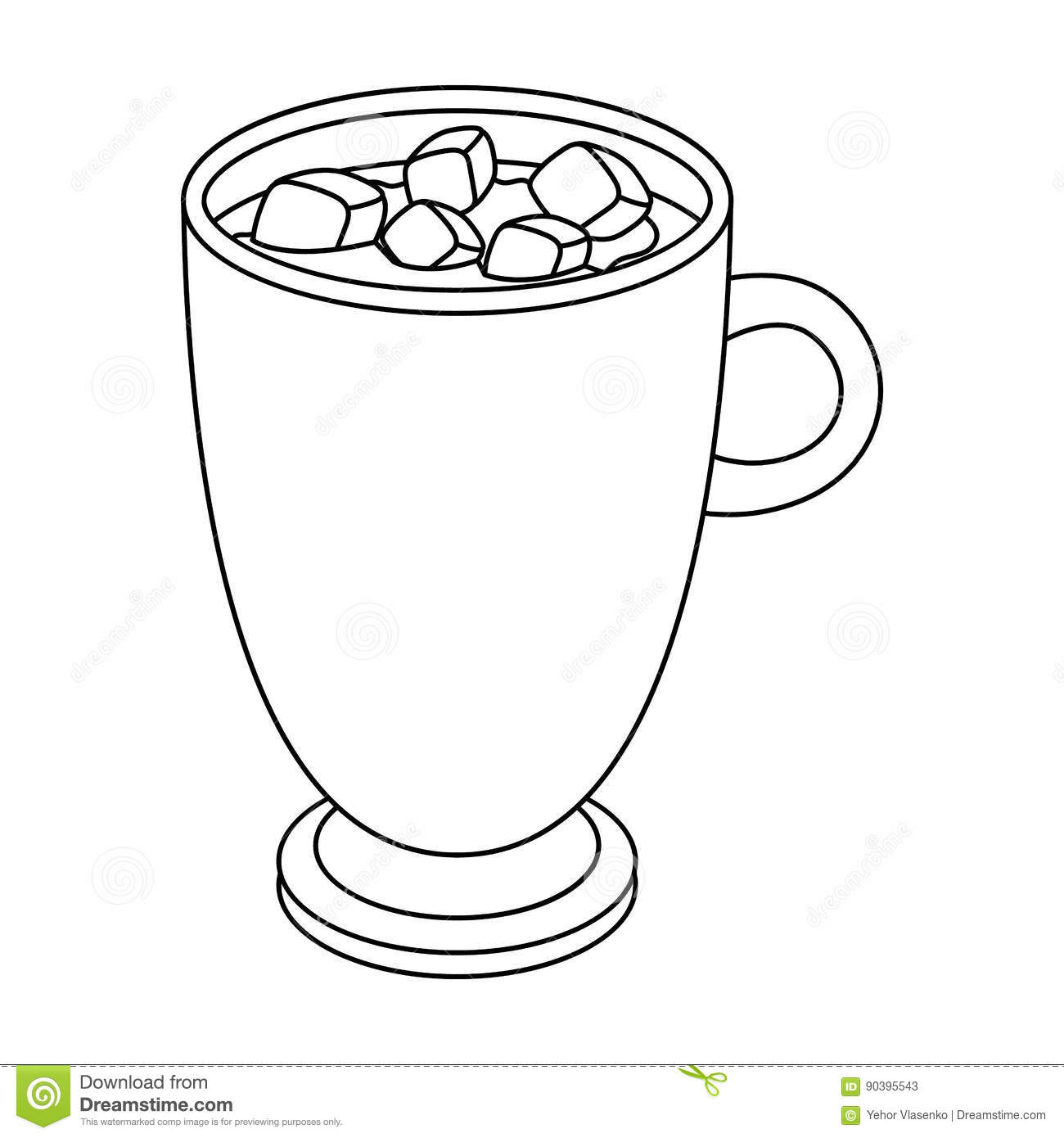 Hot Chocolate Clipart Black And White Clipart For Work