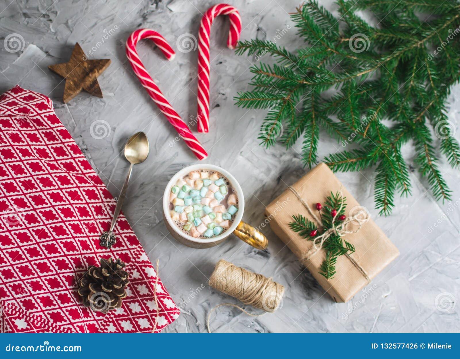 Hot chocolate christmas cones craft