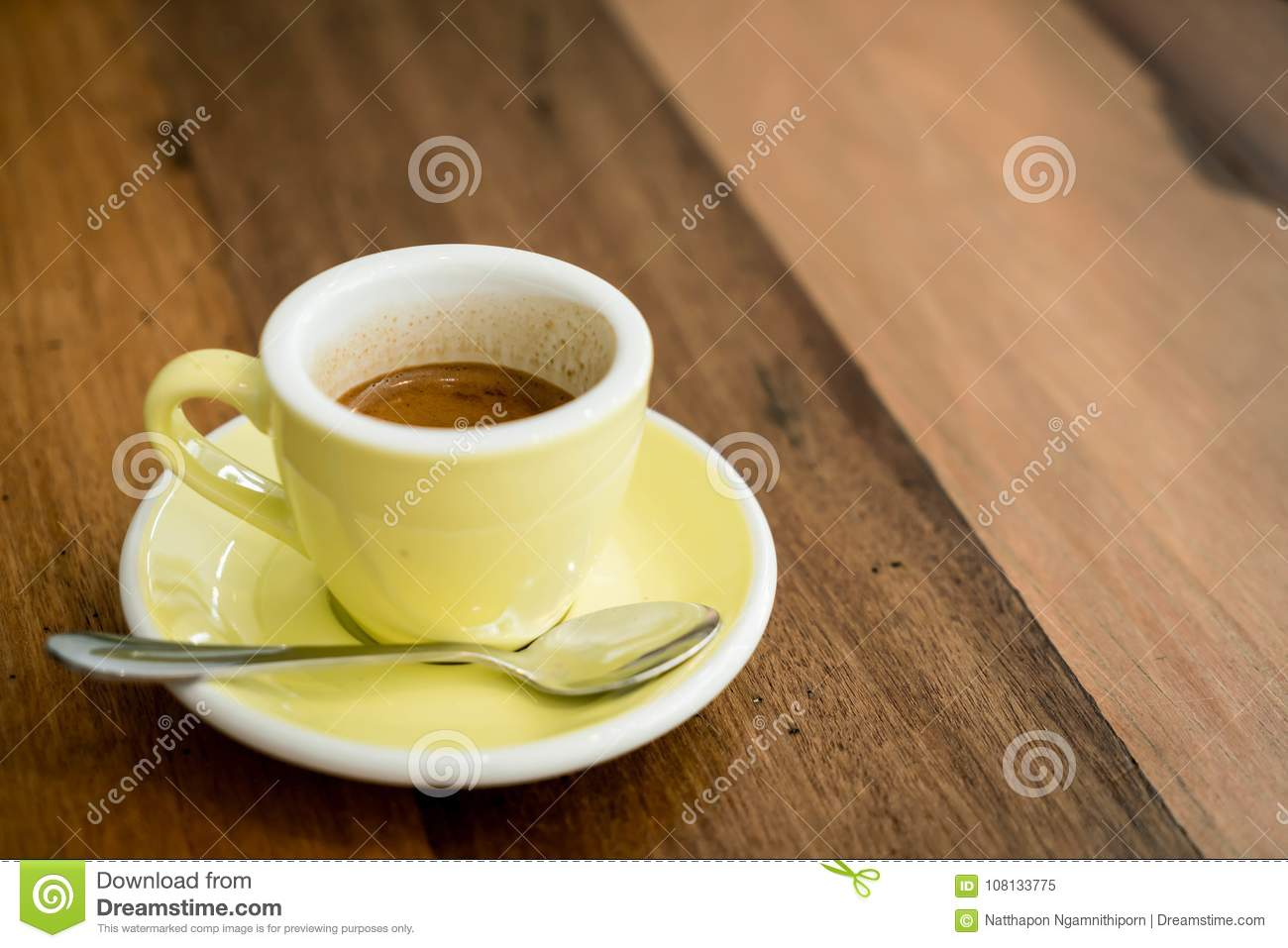 hot expresso coffee