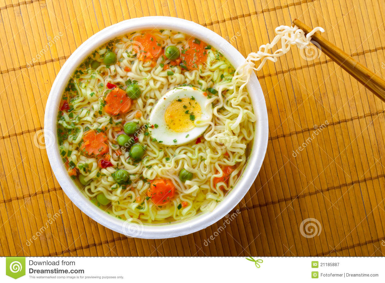 Cup of instant noodles