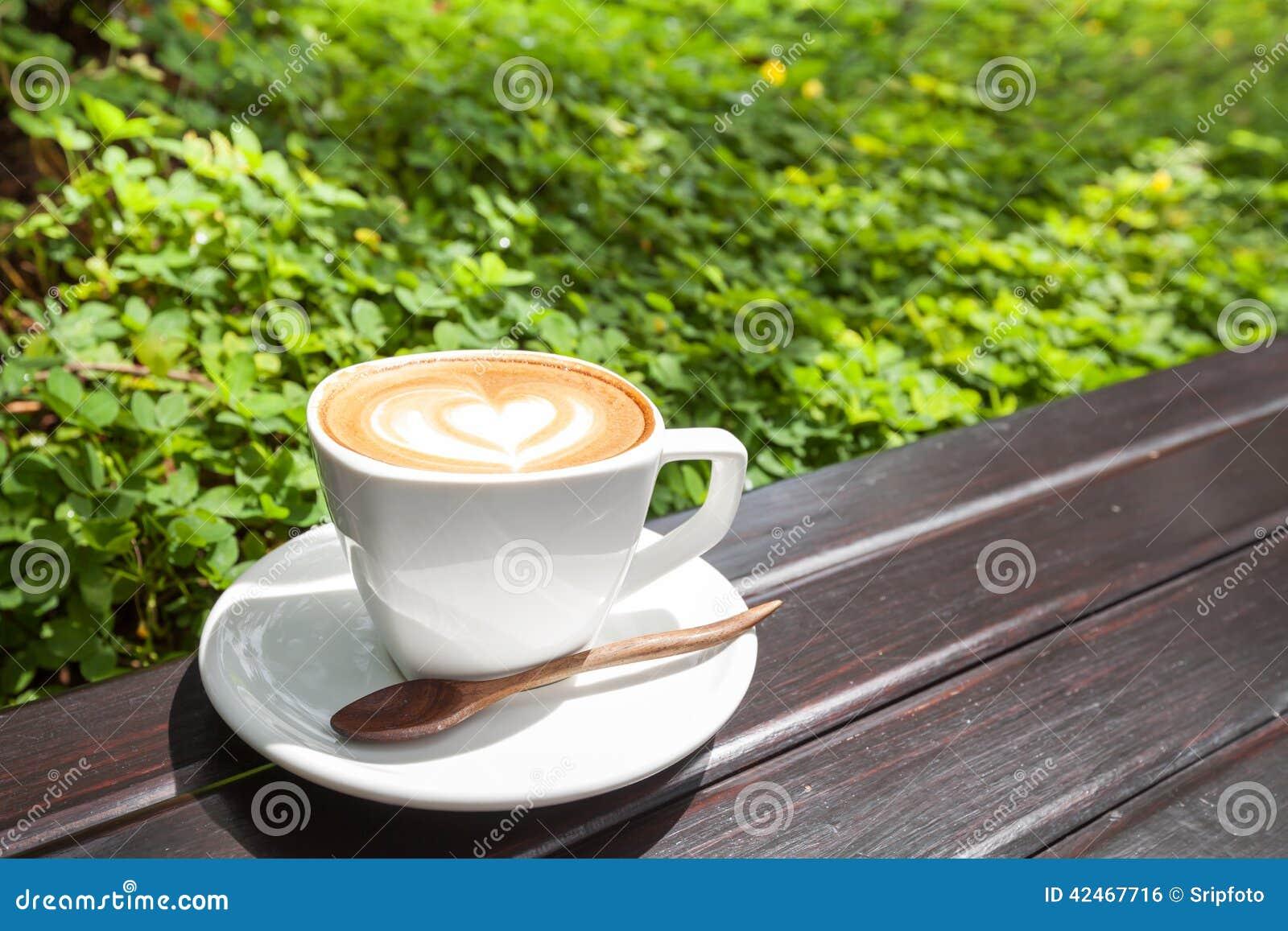 Cup latte Kaffee
