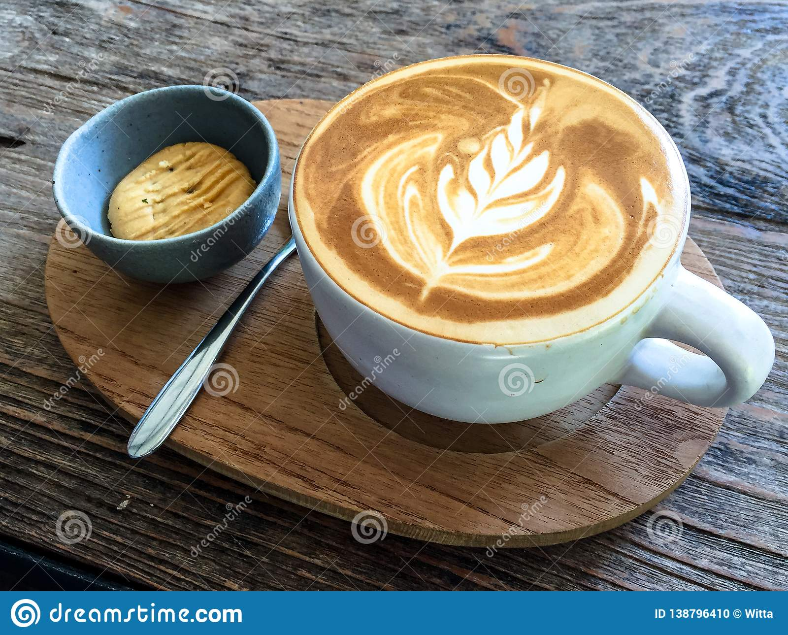 Cup Of Latte Latte Art Coffee Stock Photo Image Of