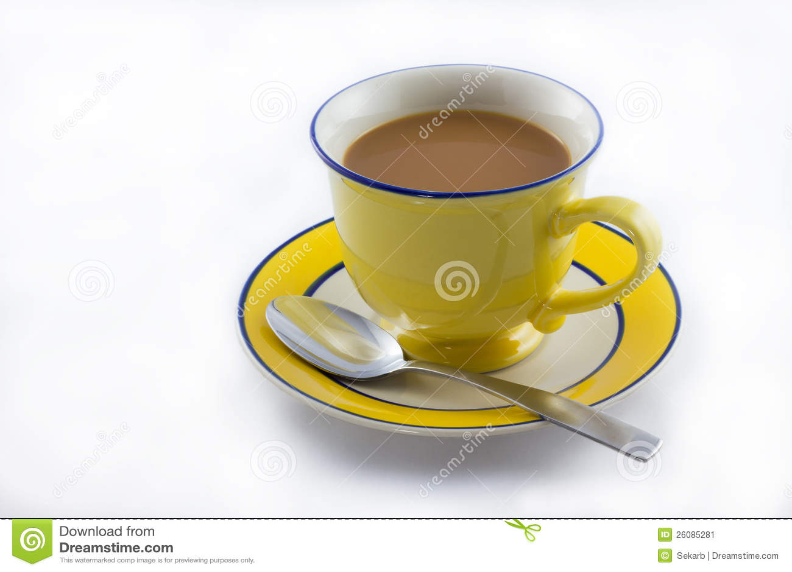 Cup Of Milk Tea Stock Image - Image: 26085281