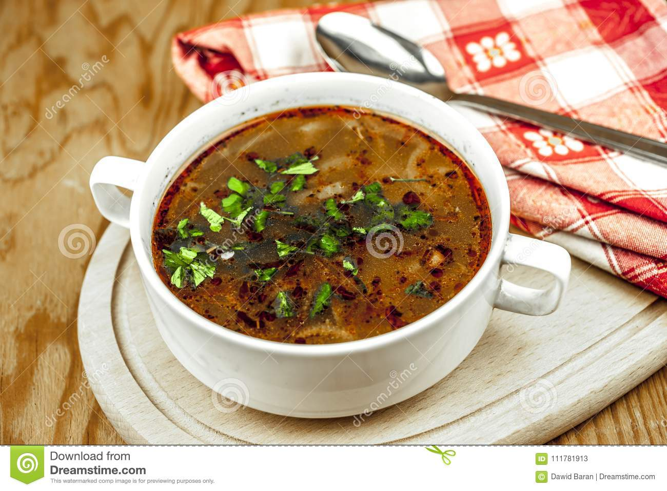 Cup of onion soup