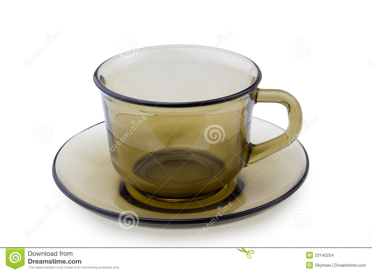 cup on plate isolated stock photo image of circle black 23140254